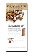 brochure about the Put A Cork In It cork recycling program