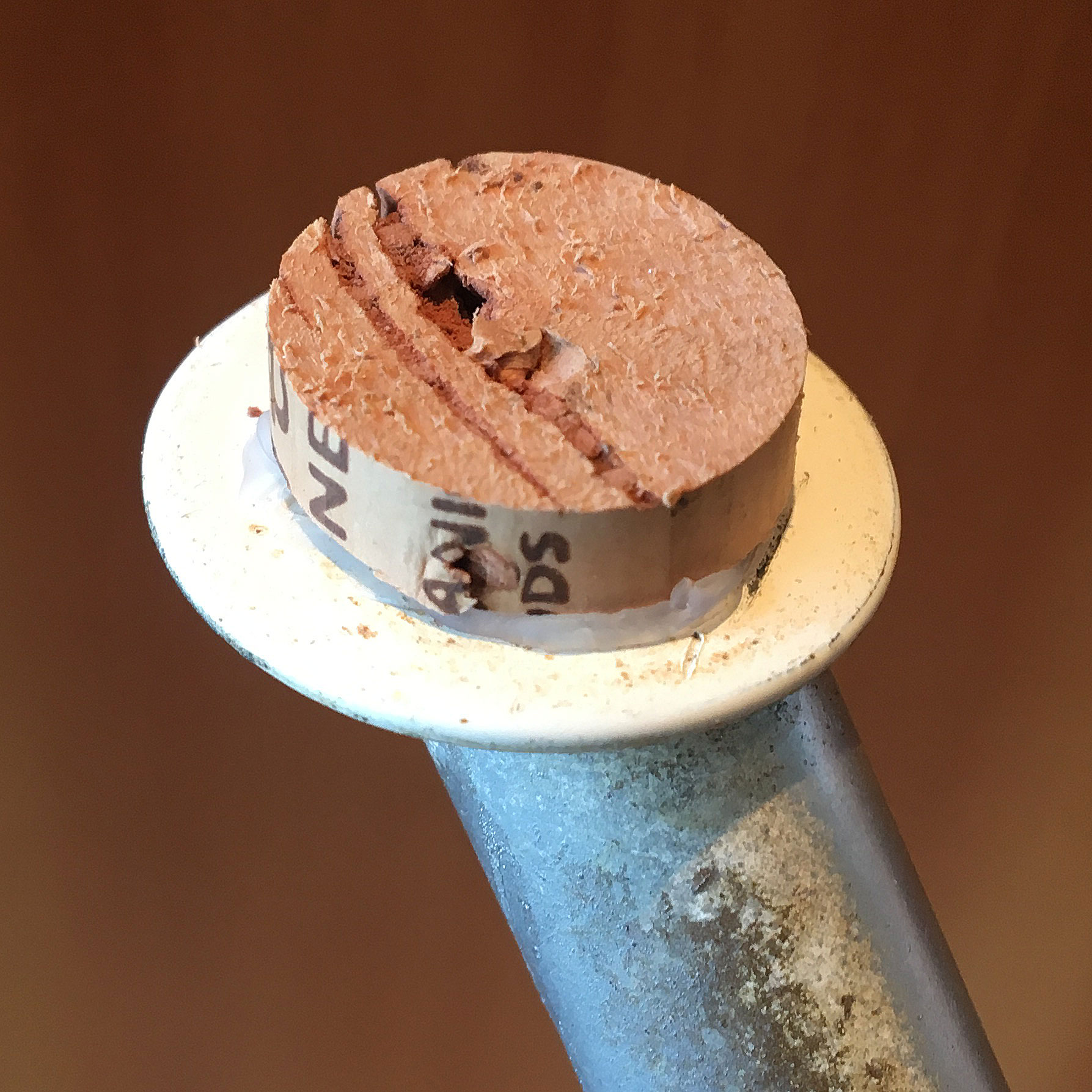cork disc applied with hot glue to your chair or table leg